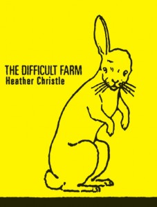 The Difficult Farm by Heather Christle ships August 2009