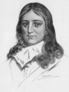 "this is a picture of john milton.  he looks like if you asked him if he wanted to just rent a super nintendo and chill he would nod once and say, ""indeed."""