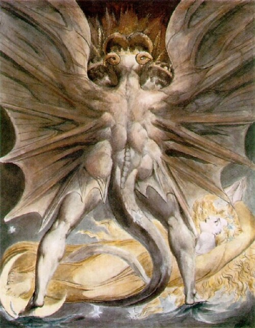 WilliamBlake-The-Great-Red-Dragon-and-the-Woman-Clothed-with-the-Sun-1805-10
