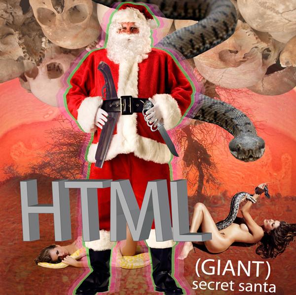 Secret santa web page blanche