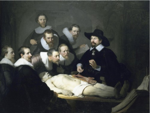Fig. 4: The Anatomy Lesson of Dr. Nicolaes Tulp, oil on canvas by Rembrandt van Rijn 1632. Courtesy of Mauritshuis, The Hague.
