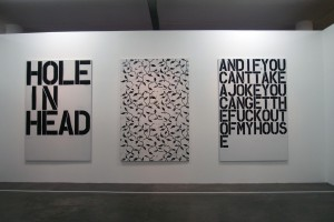 Work by Christopher Wool