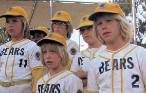 It's not Dennis Cooper's male escort''s of the month. It's the Bad News Bears (1976), demonstrating that art is sometimes made when a bunch of losers get together and do , , , whatever.