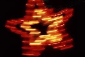 blurred xmas star