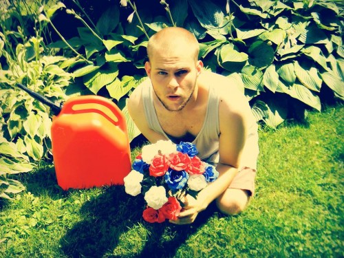 paul with flowers