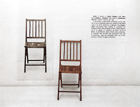 "Joseph Kosuth, ""One and Three Chairs"" (1965)"